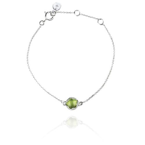 Dosha Bracelet - Silver - Peridot
