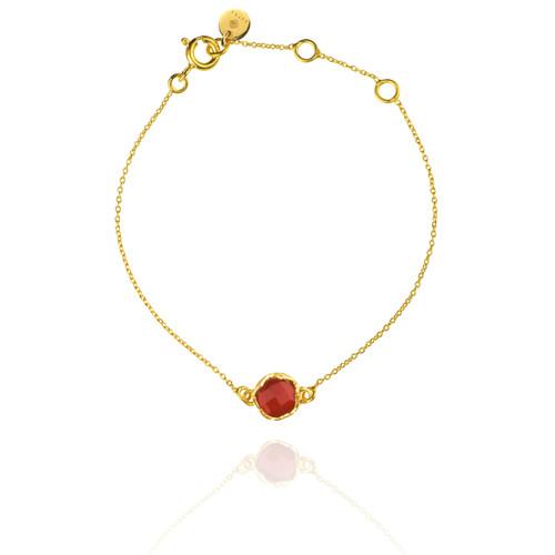 Dosha Bracelet - Gold - Carnelian