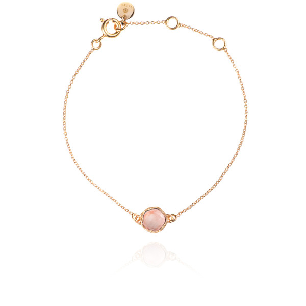 Zefyr Dosha Necklace Rose Gold With Rose Quartz QcMAKe6gG