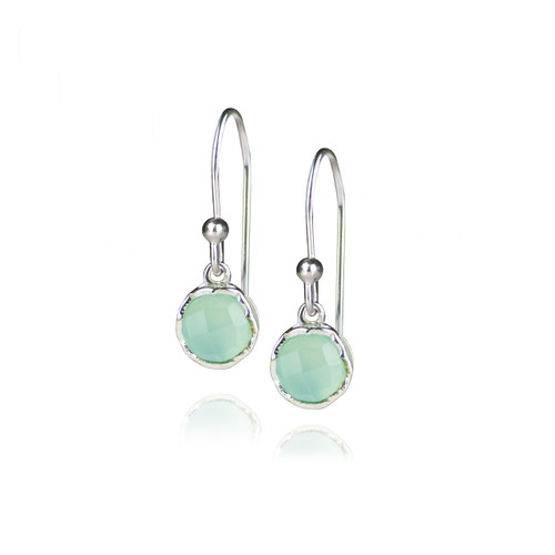 Dosha Earrings - Silver - Aqua Chalcedony