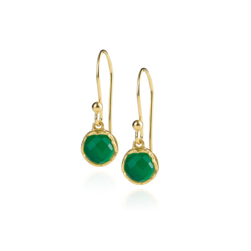 Dosha Earrings - Gold - Green Onyx