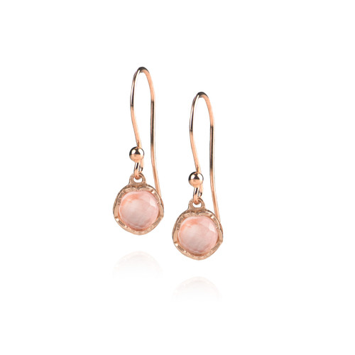 Dosha Earrings - Rose Gold - Rose Quartz