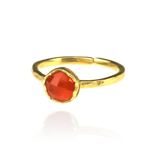 Dosha Ring - Gold - Carnelian