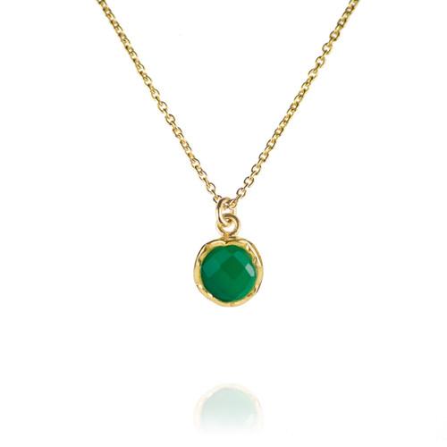 Dosha Necklace - Gold - Green Onyx