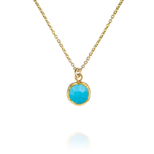 Dosha Necklace - Gold - Turquoise