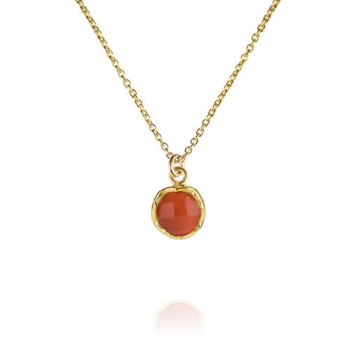 Dosha Necklace - Gold - Carnelian