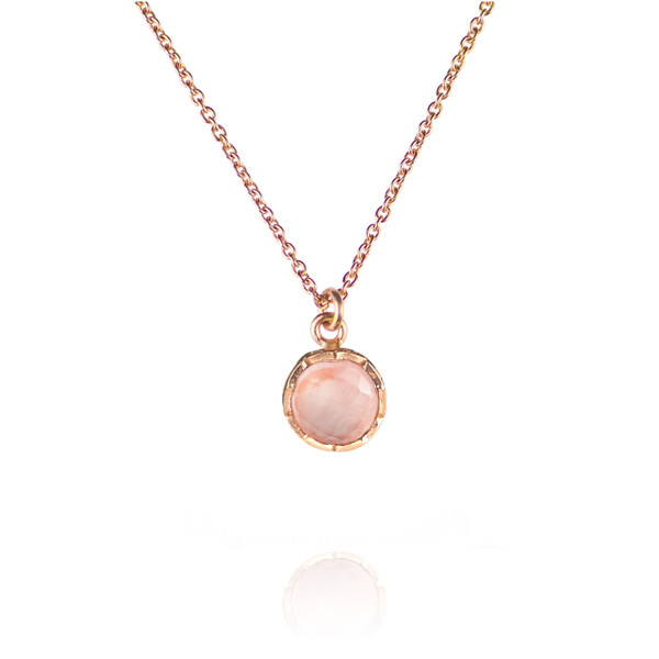 Zefyr Dosha Necklace Rose Gold With Rose Quartz lJRx3reUS
