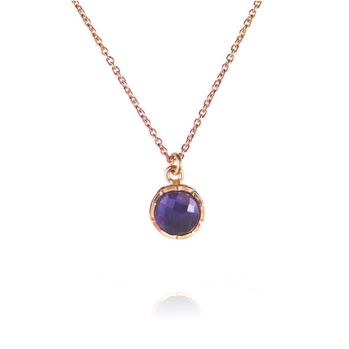 Dosha Necklace - Rose Gold - Amethyst