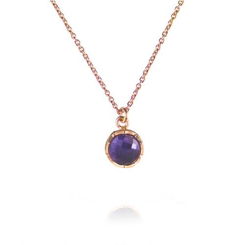 Dosha Necklace - Rose Gold - Amethyst