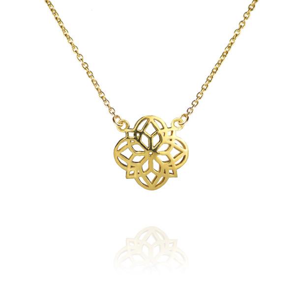Zefyr Mandala Necklace Gold uMJOcxI