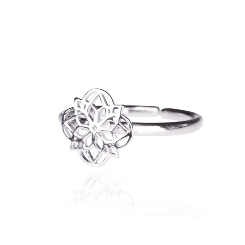 Mandala Ring - Silver
