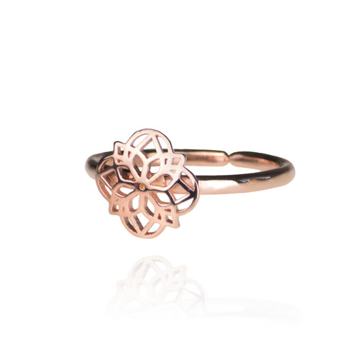 Mandala Ring - Rose Gold