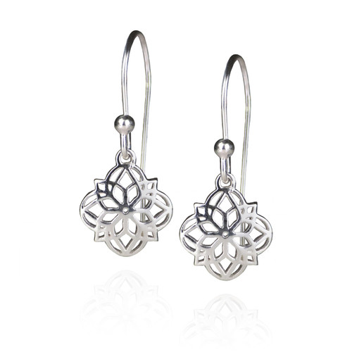 Mandala Earrings - Silver