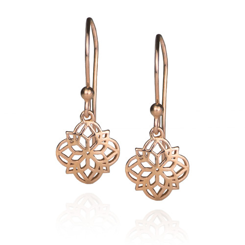 Mandala Earrings - Rose Gold