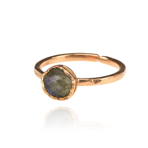 Dosha Ring - Rose Gold - Labradorite