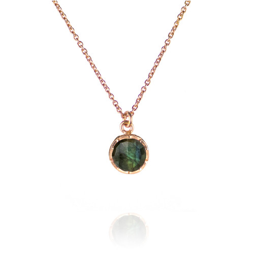 Dosha Necklace - Rose Gold - Labradorite