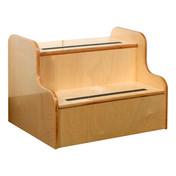 birch two step stool