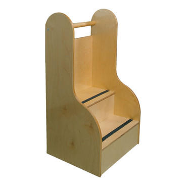 Birch Tall Two Step Stool With Non Skid Treads For Kids