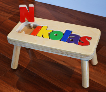 natural puzzle step stool