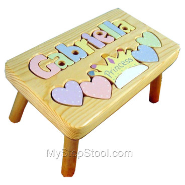 Princess Puzzle Name Step Stool For Kids