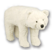 Plush Polar Bear Footrest