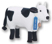 Plush Holstein Cow Footrest