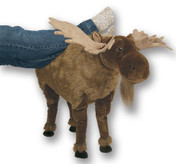 Plush Moose Footrest