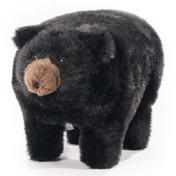 plush black bear footstool