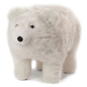 Frosty Plush Polar Bear Footstool
