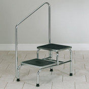 chrome two step stool with handrail & Medical Step Stools and Step Stools for Independence islam-shia.org