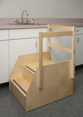 Birch Step Stool with Guard Rails