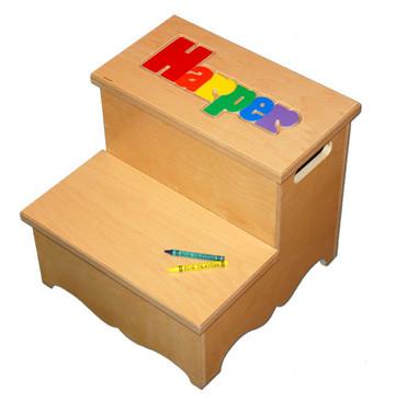 name stool  sc 1 st  My Step Stool & Two Step Name Puzzle Stool islam-shia.org