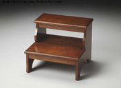 Step Stool in Chestnut Burl Finish