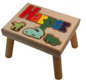 dinosaur puzzle name stool
