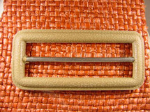 (10pcs) Buckle 1 1/4 inches X 2 3/4 inches Tan #bag-232