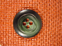 (12pcs) Designer 4 hole Buttons from Italy 1 3/8 inches Forest Green #bag-292