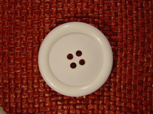 (12pcs) Italian 4 hole Buttons 1 1/2 inches White #bag-321