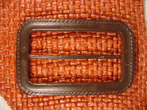 (10pcs) Designer Buckles 2 5/8 inches X 1 5/8 inches Dark Brown #bag-331