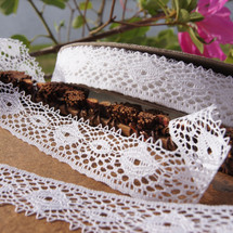 White Cluny Style Wholesale Lace Trim