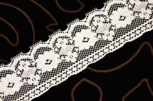 """2 1/4"""" Beige Floral Lace Trim #lace-11"""