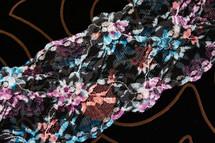 """3 1/2"""" Printed Floral Lace Trim #lace-142"""