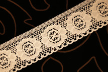 "2"" Rose Pink Floral Lace Trim #lace-15"