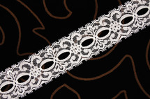 "1 1/2"" White Wholesale Lace Trim #lace-166"