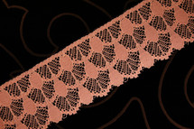 """2 1/4"""" Dusty Rose Wholesale Lace Trim #lace-27"""