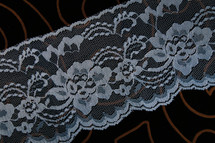 "4 1/4"" Blue Floral Wholesale Lace Trim #lace-520"