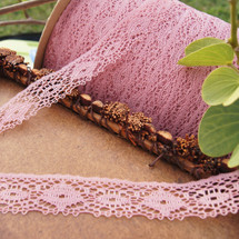 Dusty Rose Cluny Style Wholesale Lace Trim
