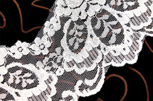 "4 3/4"" Natural White Wholesale Lace Trim with Iridescent Sequins #267"