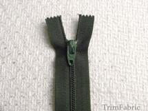 "7"" Dark Green Zipper #ZP-27"