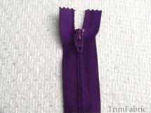 "9"" Grape Purple Zipper #ZP-30"