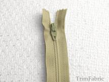 """7"""" Seaweed Green Zipper #ZP-48"""